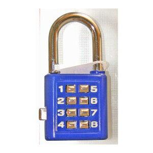 【ポイント2倍】和気産業 4903757272613 TW−912 プッシュボタンロック 青