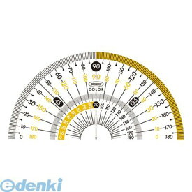共栄プラスチック CPK-90-Y カラー分度器 イエロー CPK90Y