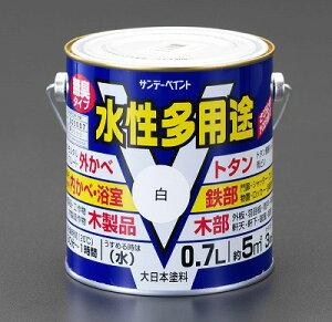 エスコ EA942EB-13A 0.7L 水性 多用途塗料 鉄部/木部用 黒 EA942EB13A【キャンセル不可】