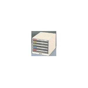 【あす楽対応】「直送」【個数:1個】トラスコ中山 TRUSCO TB4-5P プラスチックB4レターケース浅型5段 TB45P 278-2405
