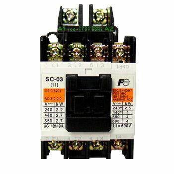 富士電機 [SC-0 COIL-AC200V 1B] 標準形電磁接触器(ケースカバーなし) SC0COILAC200V1B