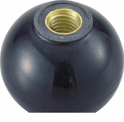 【あす楽対応】トラスコ中山(TRUSCO) [TPC205BK] 樹脂製握り玉 金具付黒 20XM5mm 329-1898