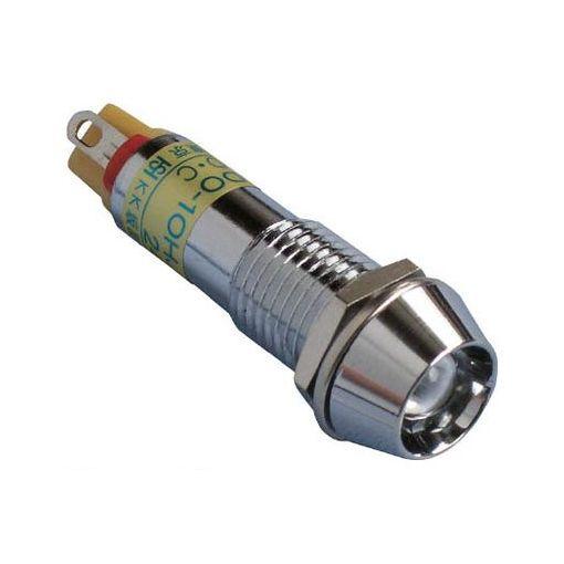 坂詰製作所[DO10HJTDC24VO] メタルフレーム形LED表示灯 DO−10HJT DC24V 橙φ10
