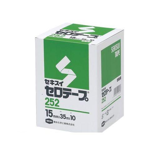 積水化学工業 [C10BX02 15*35 ハコイリ] セロテープ#252N箱入15mmx35m【10巻】 C10BX0215*35ハコイリ
