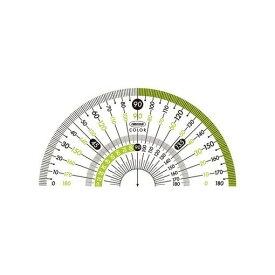 共栄プラスチック CPK-90-G カラー分度器 グリーン CPK90G【AKB】
