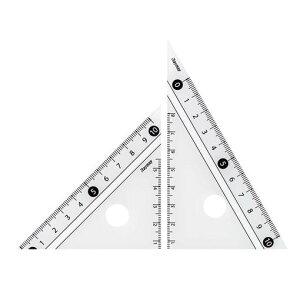 レイメイ藤井 APJ251W 見やすい白黒三角定規 白 10cm【AKB】