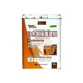 ニッペホームプロダクツ 4976124544583 水性木部保護塗料 ウォルナット 3L