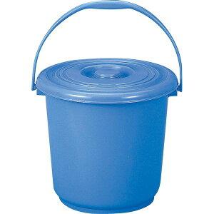 4702698001302 新輝合成 トンボ バケツ13型 蓋付 ブルー