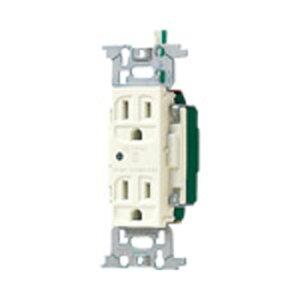 パナソニック 医用アース付ダブルコンセント 接地リード線付 通電表示ランプ付 ミルキーホワイト WN13185K