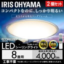 【2個セット】シーリングライト おしゃれ 8畳 調光 調色 led メタルサーキットシリーズ クリアフレーム CL8DL-5.1CF 送料無料 天井照明 高効率 取り付け簡単 ダイニング 省エネ アイリスオーヤマ[12ss]