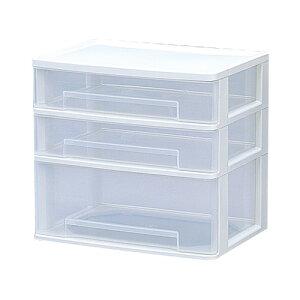 《組立不要》ワイドテーブルチェスト WET-421 ホワイト【アイリスオーヤマ】(収納BOX/収納ボックス/収納用品/収納ケース プラスチック/押入れ収納/封筒、小物入れの収納や衣替えに最適♪)