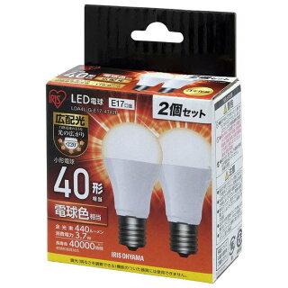 【2個セット】LED電球E1740W電球色昼白色アイリスオーヤマ広配光LDA4N-G-E17-4T42P・LDA4L-G-E17-4T42Pセット密閉形器具対応小型シャンデリア電球のみおしゃれ電球17口金40W形相当LED照明長寿命省エネ節電広配光タイプペンダントライト玄関廊下