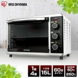 コンベクションオーブン PFC-D15A-W ホワイト ノンフライ調理 オーブン機能 ノンフライヤー トースター機能 ヘルシー ノンフライオーブン アイリスオーヤマ 送料無料