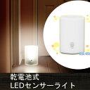 乾電池式LEDセンサーライト BSL-05W ホワイト【アイリスオーヤマ】【RCP】【★10】