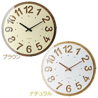 【送料無料】掛け時計HagenハーゲンCL-9598BNブラウン・NAナチュラル【TC】【掛時計時計掛け時計おしゃれ北欧アンティークかわいいクロック北欧】【IF】