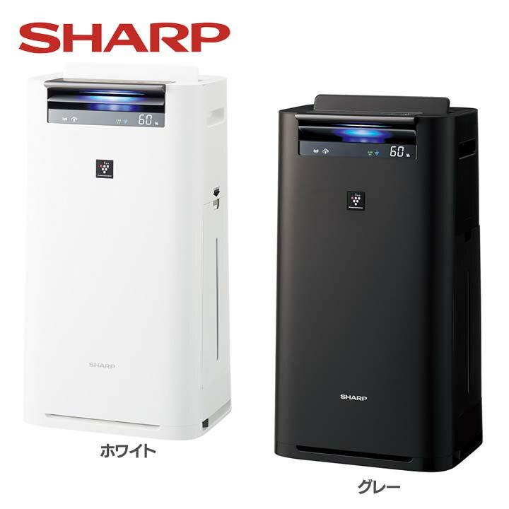 加湿空気清浄機 KI-HS50-W送料無料 空気清浄器 プラズマクラスター 13畳 クラウド対応 シャープ ホワイト・グレー【D】