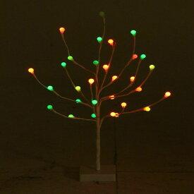 クリスマスツリー ブランチツリー 北欧 おしゃれ 60CM レインボーツリー ホワイト 16430イルミネーション LEDライト クリスマス Xmas 不二貿易 【D】【送料無料】