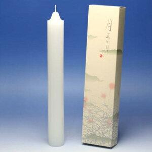 ろうそく 月あかり 四十時間 40時間 2本 131-13 東海製蝋 日本製 ロウソク 蝋燭 つきあかり キャンドル ローソク お仏壇 お勤め 御供 お供え 神棚 白い 白い芯 白 お灯明 お祈り 仏壇 Candle あかり