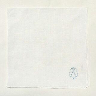 アーンジョー<Enjeau>リネンハンカチ44cm(ホワイト)