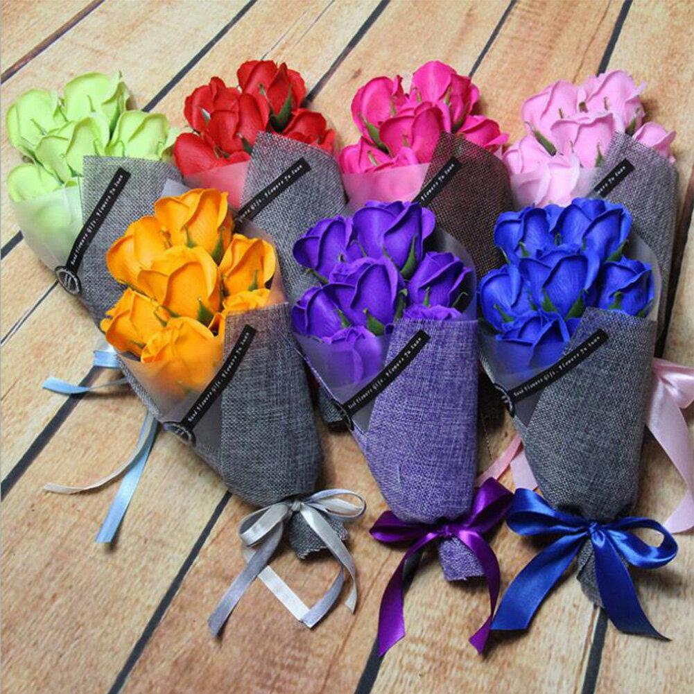 大切な人 へ 感謝 の 気持ち を 伝える 造花 7本 セット 花束 ( ソープフラワー ) と メッセージカード の セット 母の日 誕生日 プレゼント 10P04Mar17