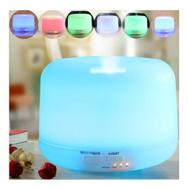 超音波式加湿機 アロマディフューザー 空気清浄機 アロマランプ 静音 空焚き防止 自動停止機能 7色変換LED付き 大容量 300Ml  2色選択可 10P04Mar17