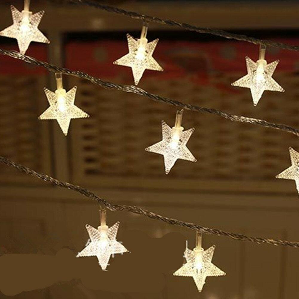 5M 50球 電池式防水LED 星 LEDイルミネーションライト 結婚式、ホームパーティー お誕生日パーティー クリスマスなどに最適 電飾