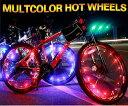 【在庫処分】夜間の事故防止に!防水設計 自転車 LED ホイールライト イルミネーショ...
