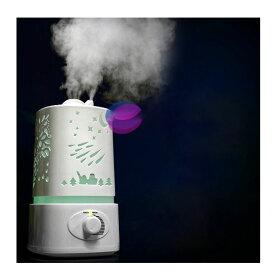 乾燥対策※超音波式 加湿器 アロマ対応 空気清浄機 空気浄化 連続加湿 多色変換LED付き 10P04Mar17