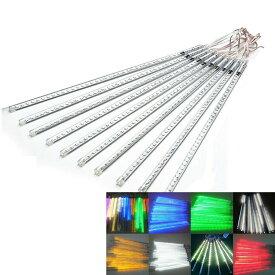 LEDイルミネーションライト フォールライト スノーフォールライト 80cm 8本 流れ星 流星 スノードロップライト クリスマス 飾り 防水 屋外対応