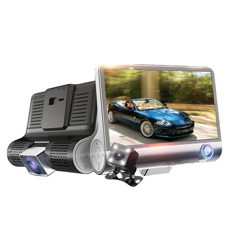 3カメラ新型ドライブレコーダー 3カメラ録画 前後同時録画 バックカメラ付き 4.0インチ 高画質 1080P 事故 防犯カメラ 赤外線付き 動体検知 Gセンサー