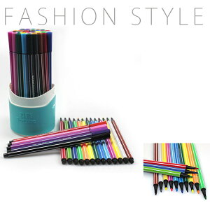 水彩絵の具36色 セット 書きやすい 鮮やかな発色 耐用筆先 絵画/デザイン/マーク 水で落とせる 水性マーカーペン 売り 実用色ペン おしゃれ 収納ケース付き