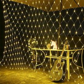 LEDイルミネーションライト  ネットライト 6m*4m インテリアライト クリスマス 飾り 防水 屋外対応 8つ点灯パターン