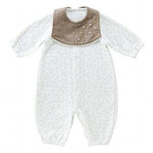 日本製 ツーウェイオール ベビー服 スタイ付き 秋 冬 春 男の子 女の子 出産準備 クラシックリーフ