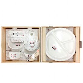 日本製 プレートセット トリコロール 離乳食 おやつケース シンプル 食器 ギフト