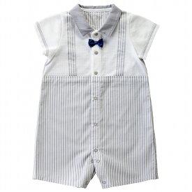 535d0ded6c9af  公式ショップ 赤ちゃんの城 ベビー服 ロンパース 半袖コンビ 70 80 男の子 グレイストライプ