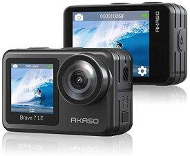 「在庫あり歴代の人気商品COMEBACK」AKASO Brave 7 LE アクションカメラ 4K 20MP高画質 IPX7水中カメラ デュアルカラースクリーン WiFi EIS2.0手ぶれ補正 デジタルズーム 40M防水 アクションカム ウェアラブルスポーツ 自転車録画カメラ