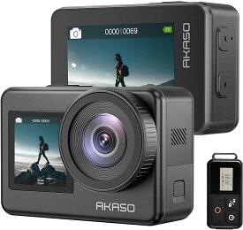 【ランキング連続1位】AKASO Brave 7 アクションカメラIPX8本機防水機 4K 30FPS /20MP 6軸手ぶれ補正(EIS 2.0) 音声制御 外部マイク対応