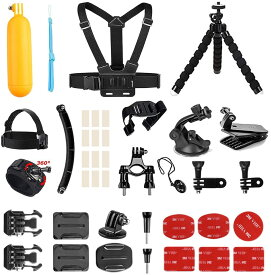 14 in 1 スポーツ カメラ アクセサリー バンドル キット Gopro Hero AKASO DRAGON TOUCH EK7000 EK5000スポーツ カメラ用