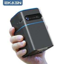 EKASN V7 DLP プロジェクター 家庭用 5000ルーメン 高輝度 Android9.0搭載 ワイヤレス接続 2.4G/5G WIFI モバイルプロジェクター ミニ 台形補正 Bluetooth 外付けスピーカー対応可能 2+32G大容量 オンライン会議 スマホ dvd BT+HD-in