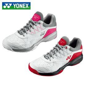 【YONEX】テニスシューズ <パワークッション 103>クレー・砂入り人工芝コート用 3E ホワイト/ピンク ホワイト/レッド