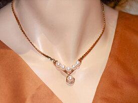 【アコヤ真珠】アコヤ真珠ダイヤネックレスK18YG 金18イエローゴールド アコヤ真珠径約6.8mm~7.5mm天然ダイヤモンドD0.16ct イエロー【中古】【新品仕上げ】【美品】