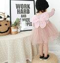 【妖精ワンピース】【70/80cm】ワンピース レースドレス 子供 ドレス チュール チュチュ スカート 長袖 ピンク pink …