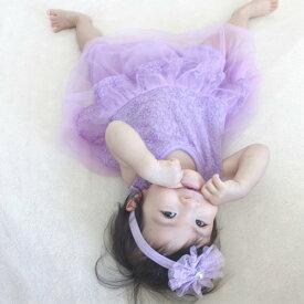 【赤ちゃんドレス】【50/60/70/80cm】ワンピース レースドレス 子供ドレス ドレス プチギフト ベビー キッズ 女の子 白 ピンク 青 紫