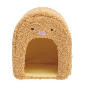 【New Sumikkoグッズ】てのりぬいぐるみ とんかつハウス MX-98101 すみっコぐらし(トンカツ型)★てのりぬいぐるみ専用のお家/とんかつグッズえびふらいのしっぽミニフェルトマスコット付き