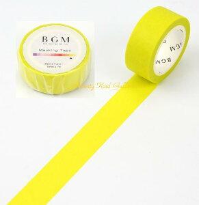 【BGMマステ】イエロー 15mm BM-B011 BGMマスキングテープベーシックシリーズ ★ビージーエムの幅15mmのマステBasicスタンダードマステ/きいろ黄色★【3cmメール便OK】