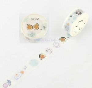【BGMマステ】ライフ/Life 15mm BM-LA052 パッションフルーツ BGMマスキングテープ ★ビージーエムの幅15mmのマステLIFEシリーズマスキングテープ装飾シールテープ/フルーツ柄亜熱帯果物くだも