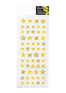 【New Masking Seal】マスキングシール 星(イエロー)US-14249 Clothes-Pinクローズピン ★マスキング素材シールホログラム加工のシールスターデザイン星柄ほしのシールStar/クリスマス七夕飾り