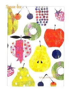【Shun-kaシリーズ】旬果 A5サイズノート ミックス/Mix NB-14307 ★7mm罫、25行、24ページ★★Tomoko Hayashiしゅんかデザインの横罫線ノートブック果物柄くだものフルーツデザイン洋梨りんごキウ