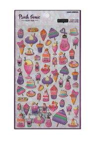 【Pink Genic Seal】ピンクジェニックシールSWEETS/スイーツ NO.07358 金の箔押しクリアシール★アイスクリームショートケーキいちごスイーツ柄パフェカップケーキ苺いちごストロベリースイーツ
