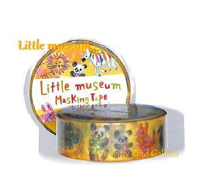 【Animalマステ】リトルミュージアムマスキングテープ どうぶつえん NO.25355 Little Museum ★幅15mmのマスキングテープ/装飾シールテープ動物柄アニマルデザインどうぶつのイラストマステらく